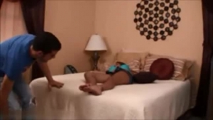 Teen humiliates grandma and gives an awesome footjob